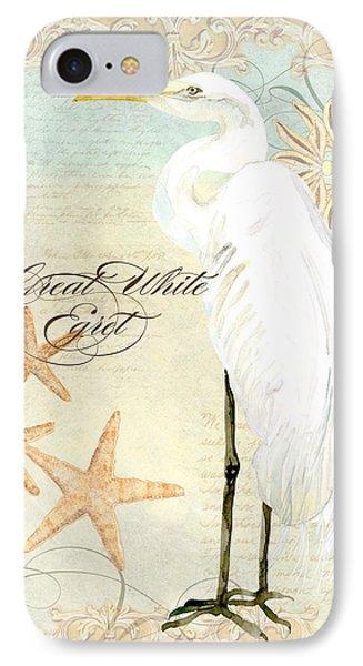 Coastal Waterways - Great White Egret 3 IPhone Case by Audrey Jeanne Roberts