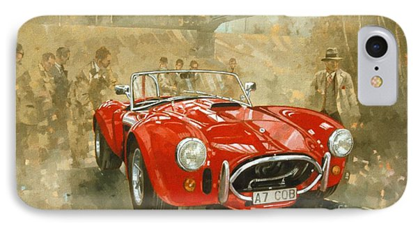 Cobra At Brooklands IPhone Case by Peter Miller
