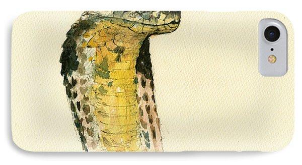 Cobra Snake Poster IPhone Case by Juan  Bosco