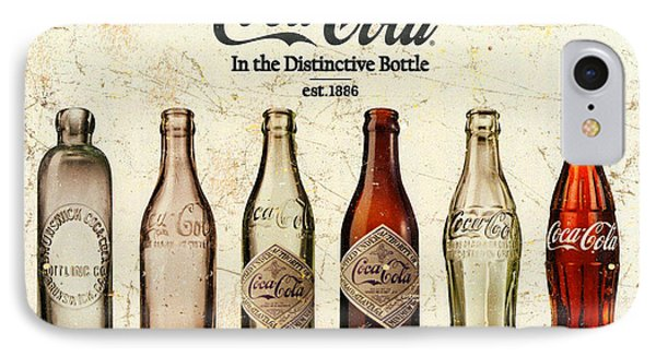Coca-cola Bottle Evolution Vintage Sign IPhone Case by Tony Rubino