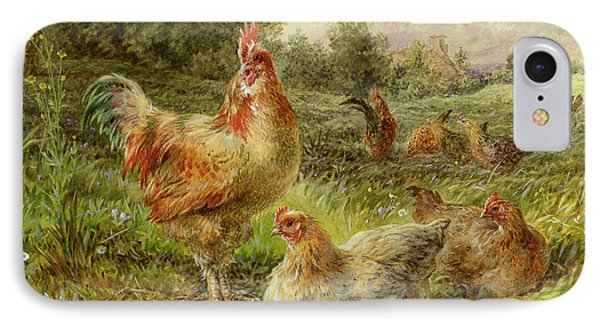 Cochin China Fowls IPhone 7 Case by George Hickin