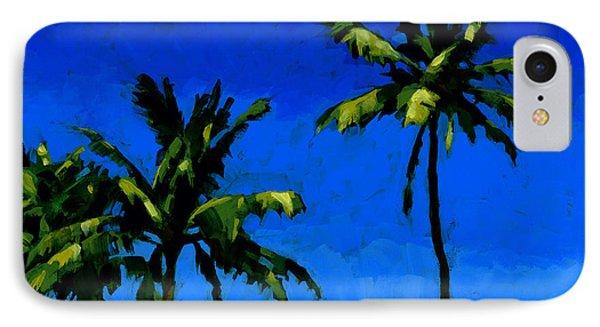 Coconut Palms 5 IPhone Case by Douglas Simonson