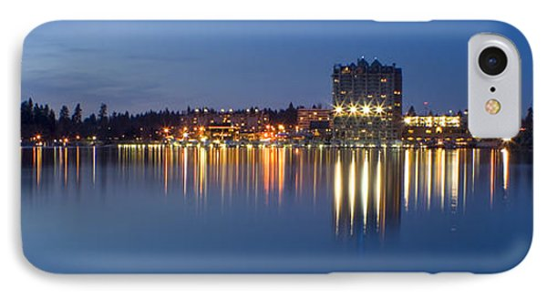 Coeur D Alene Night Skyline Phone Case by Idaho Scenic Images Linda Lantzy