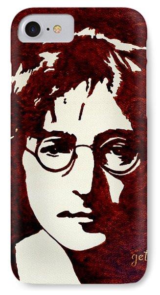 Coffee Painting John Lennon Phone Case by Georgeta  Blanaru