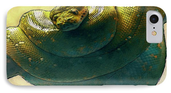 Coiled IPhone 7 Case by Jack Zulli