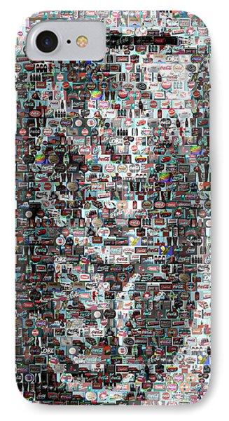 Coke Can Mosaic Phone Case by Paul Van Scott