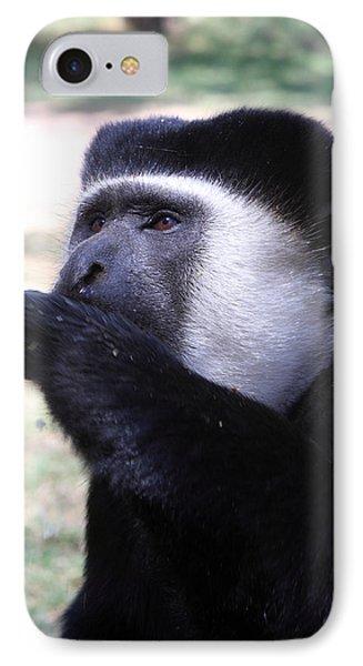 Colobus Monkey Phone Case by Aidan Moran