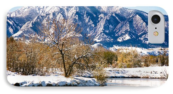 Colorado Flatirons 2 IPhone Case by Marilyn Hunt