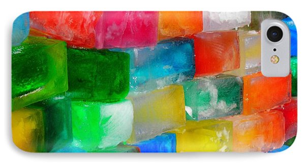 Colored Ice Bricks Phone Case by Juergen Weiss