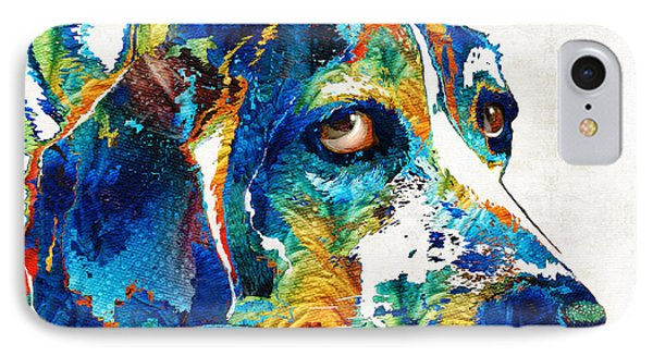 Colorful Beagle Dog Art By Sharon Cummings IPhone Case by Sharon Cummings