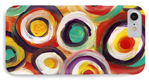 Colorful Bold Circles IPhone Case by Amy Vangsgard