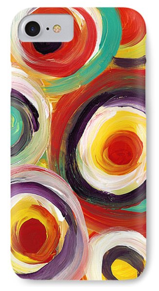 Colorful Bold Circles Vertical IPhone Case by Amy Vangsgard