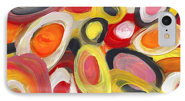 Colorful Circles In Motion 2 IPhone Case by Amy Vangsgard