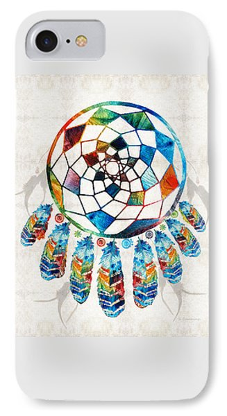 Colorful Dream Catcher By Sharon Cummings IPhone Case by Sharon Cummings