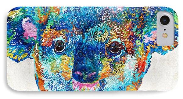 Colorful Koala Bear Art By Sharon Cummings IPhone 7 Case by Sharon Cummings