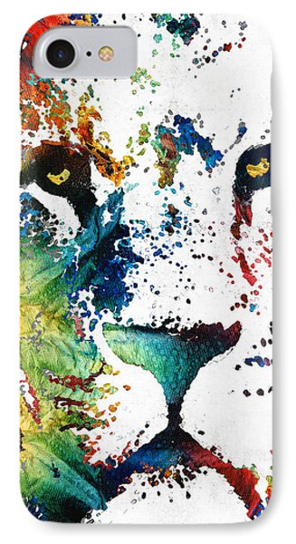 Colorful Lion Art By Sharon Cummings IPhone Case by Sharon Cummings