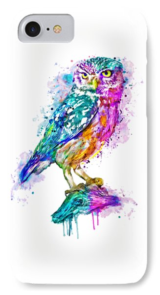 Colorful Owl IPhone Case by Marian Voicu