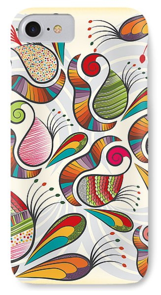Colorful Paisley Pattern IPhone 7 Case by Famenxt DB
