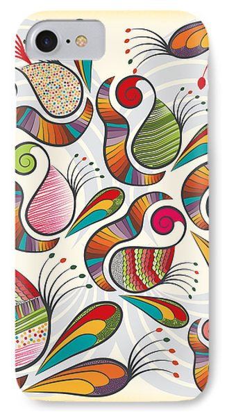 Colorful Paisley Pattern IPhone Case by Famenxt DB