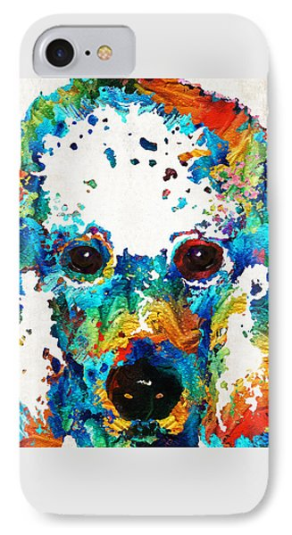 Colorful Poodle Dog Art By Sharon Cummings IPhone Case by Sharon Cummings