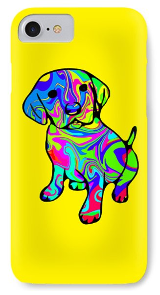 Colorful Puppy IPhone Case by Chris Butler