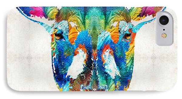 Colorful Sheep Art - Shear Color - By Sharon Cummings IPhone Case by Sharon Cummings