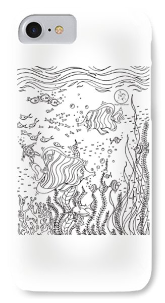 Printable Coloring Pages Beach Scenes Ocean Scene