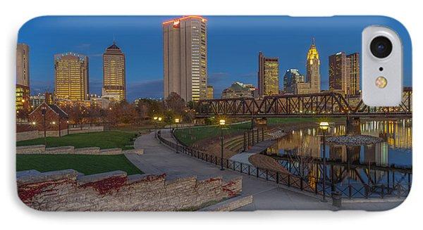 Columbus Ohio Skyline At Dusk IPhone Case by Scott McGuire