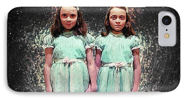 Come Play With Us - The Shining Twins IPhone 7 Case by Taylan Apukovska