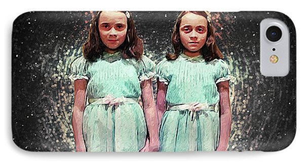 Come Play With Us - The Shining Twins IPhone Case by Taylan Apukovska
