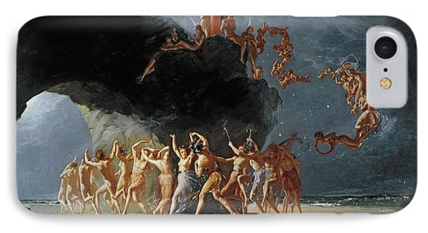 Come Unto These Yellow Sands IPhone Case by Richard Dadd