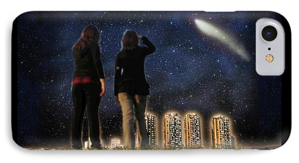 Comet Over The City IPhone Case by Gravityx9  Designs