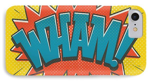 Comic Wham IPhone Case by Mitch Frey