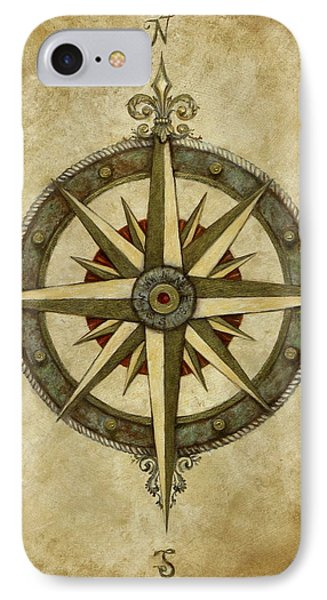 Compass Rose Phone Case by Judy Merrell