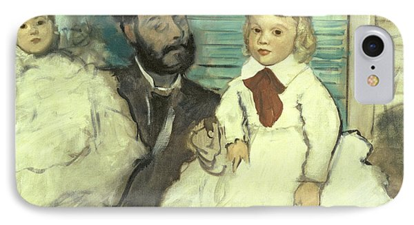 Comte Le Pic And His Sons Phone Case by Edgar Degas