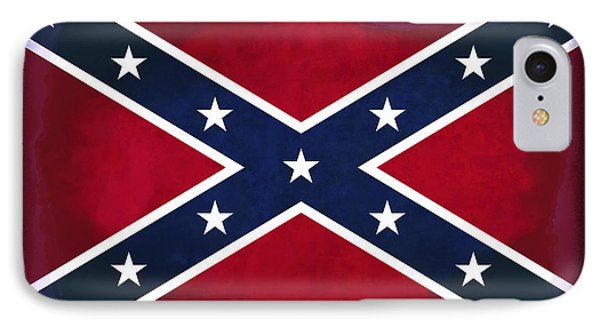 Confederate Rebel Battle Flag IPhone Case by Daniel Hagerman