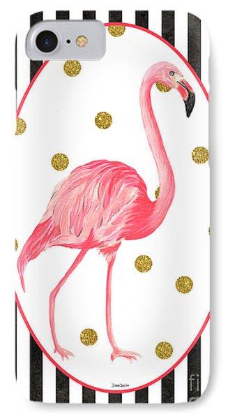 Contemporary Flamingos 2 IPhone 7 Case by Debbie DeWitt