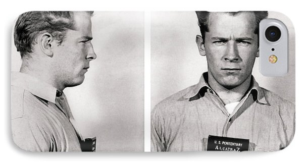 Convict No. 1428 - Whitey Bulger - Alcatraz 1959 IPhone Case by Daniel Hagerman