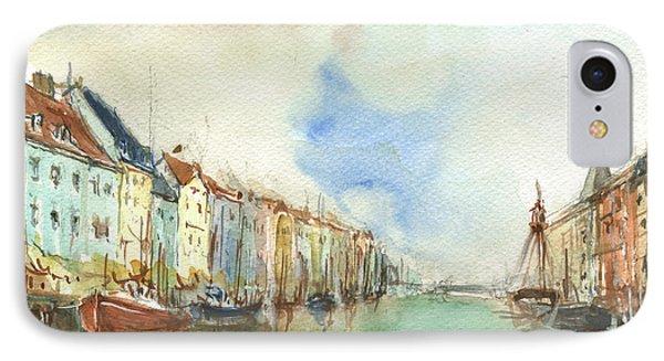 Copenhagen Harbour IPhone Case by Juan Bosco