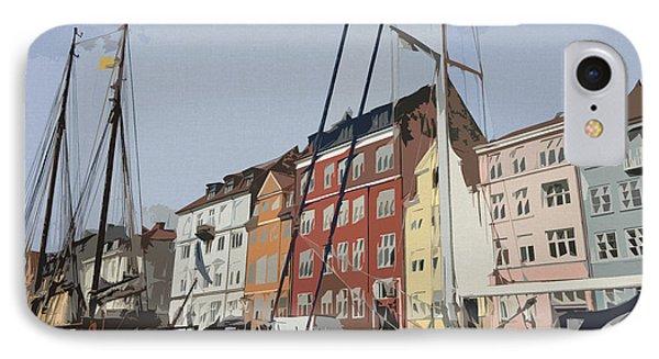 Copenhagen Memories IPhone Case by Linda Woods