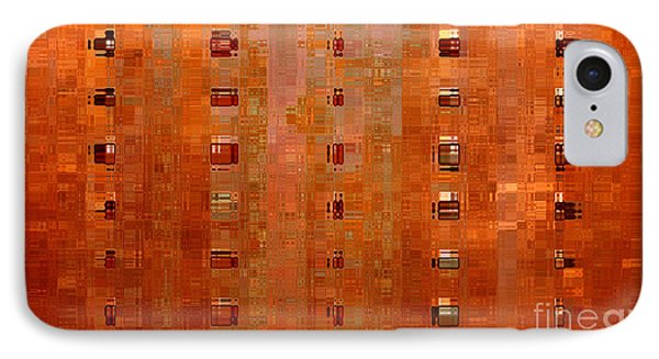 Copper Abstract Phone Case by Carol Groenen