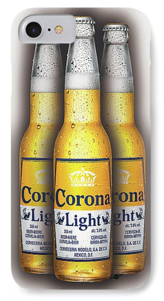 Corona Light Bottles Painting Collectable IPhone Case by Tony Rubino