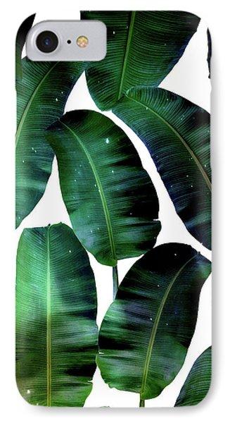 Cosmic Banana Leaves IPhone 7 Case by Uma Gokhale