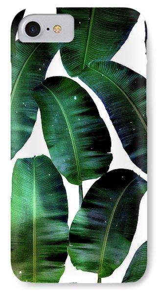 Cosmic Banana Leaves IPhone Case by Uma Gokhale