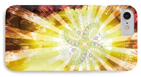 Cosmic Solar Flower Fern Flare 2 Phone Case by Shawn Dall