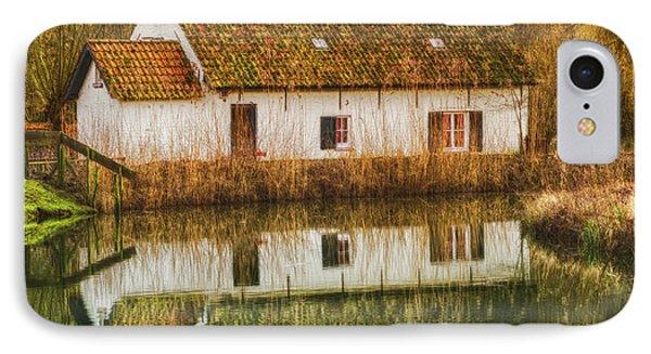 Cottage Reflection IPhone Case by Wim Lanclus
