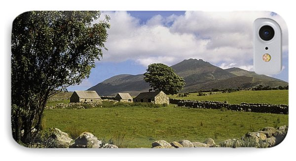 Cottages On A Farm Near The Mourne Phone Case by The Irish Image Collection