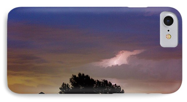 County Line 1 Northern Colorado Lightning Storm IPhone Case by James BO  Insogna
