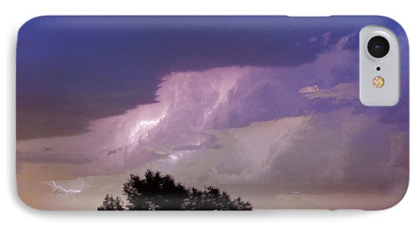 County Line Northern Colorado Lightning Storm Cropped IPhone Case by James BO  Insogna
