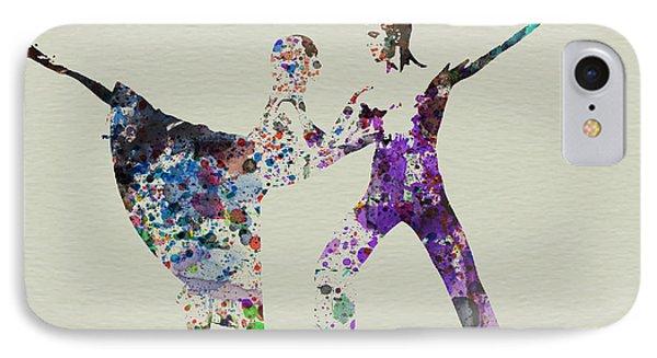 Couple Dancing Ballet IPhone Case by Naxart Studio
